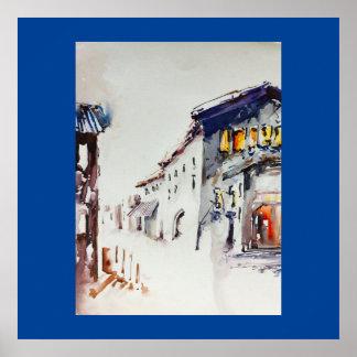 """A vila pisa"" poster da arte"
