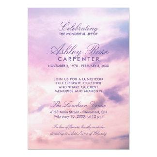 A violeta nubla-se a celebração do memorial da convite 12.7 x 17.78cm