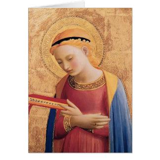 A Virgem Maria do Fra Angelico- Annunciate Cartão Comemorativo