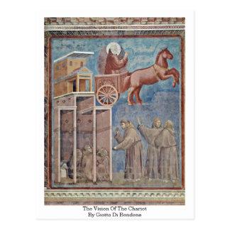 A visão do Chariot por Giotto Di Bondone Cartões Postais