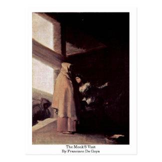 A visita das monges por Francisco De Goya Cartões Postais