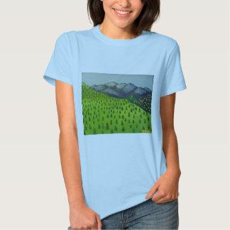 A vista da montagem Baldy por Julia Hanna T-shirts