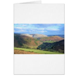 A vista de Mt Snowden, Wales Cartão Comemorativo