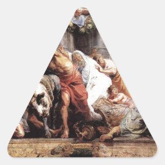 A vitória da verdade eucarística sobre o heresia adesivo triangular
