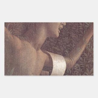 A vitória da virtude por Andrea Mantegna Adesivo Retangular