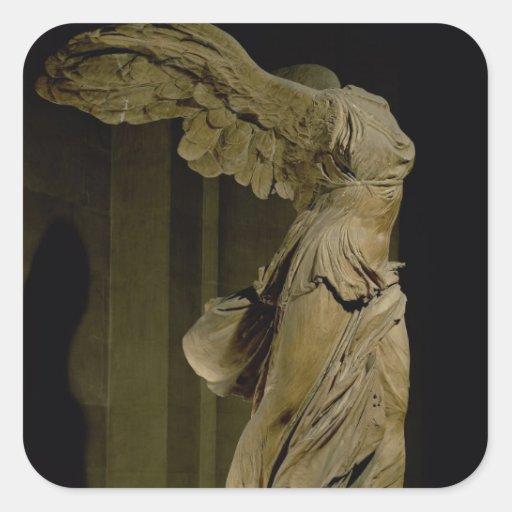 A vitória de Samothrace (mármore de Parian) (veja Adesivo Quadrado