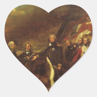 A vitória do senhor Duncan John Singleton Copley Adesivo Coração