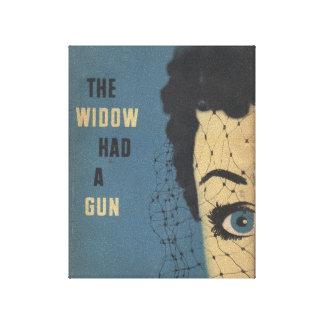 A viúva teve uma arma impressão de canvas esticadas