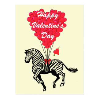 A zebra engraçada caçoa namorados cartão postal