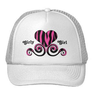 A zebra feminino bonito do rosa preto e quente lis boné