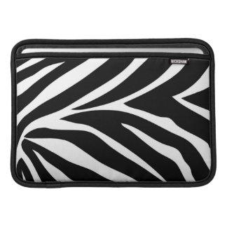 """A """"zebra listra"""" o ar 11"""" de MacBook luva horizont Bolsa De MacBook Air"""