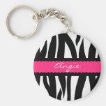 A zebra listra o chaveiro conhecido personalizado