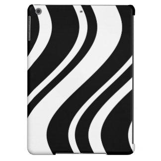 A zebra ondulada à moda listra a caixa do iPad Capa Para iPad Air
