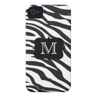 A zebra preto e branco listra a caixa de capas para iPhone 4 Case-Mate