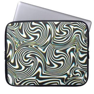 """A zebra torcida listra o teste padrão de """"efeito bolsas e capas de notebook"""