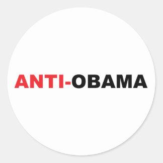 aaaaaanti obama adesivos em formato redondos