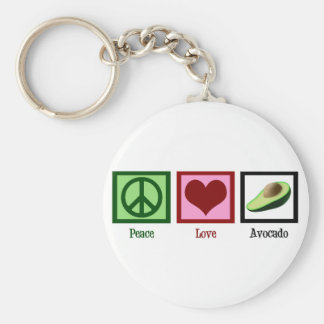 Abacate do amor da paz chaveiro