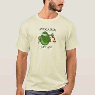 Abacates na camisa da lei