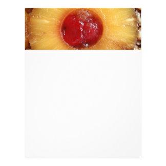 Abacaxi do bolo de cabeça para baixo do abacaxi panfleto coloridos