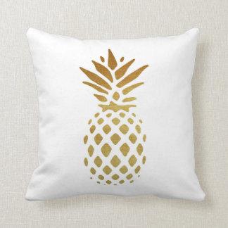 Abacaxi dourado, fruta no ouro almofada