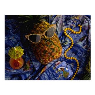 Abacaxi legal tropical engraçado cartão postal