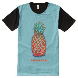Abacaxi-um-Ir-Vá por Aleta Camisetas Com Impressão Frontal Completa