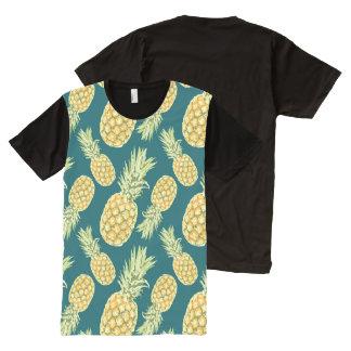 Abacaxis (2) camisetas com impressão frontal completa