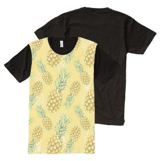 abacaxis brandamente no amarelo camisetas com impressão frontal completa