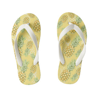 abacaxis brandamente no amarelo chinelos infantis