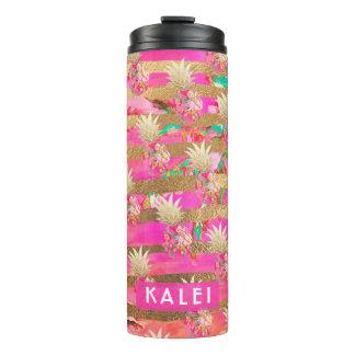 Abacaxis de PixDezines Aloha/rosa quente+Ouro do