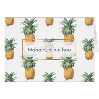Abacaxis de PixDezines/Mahalo O Hui Hou Cartão De Nota
