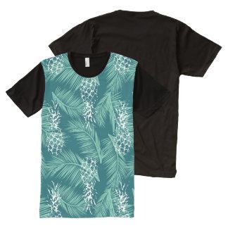 Abacaxis na cerceta camisetas com impressão frontal completa