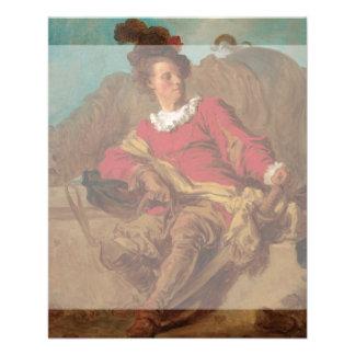 Abade vestido como o espanhol por Fragonard Panfletos Personalizado