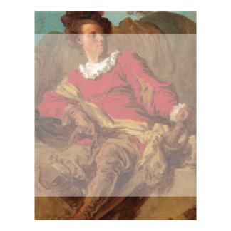 Abade vestido como o espanhol por Fragonard Panfleto Personalizado