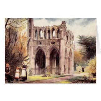 Abadia de Dryburgh do cartão do vintage, Scotland