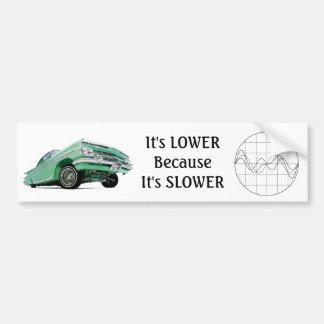 Abaixe porque é uma etiqueta mais lenta adesivo para carro
