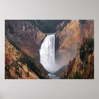 Abaixe quedas no poster do parque nacional de