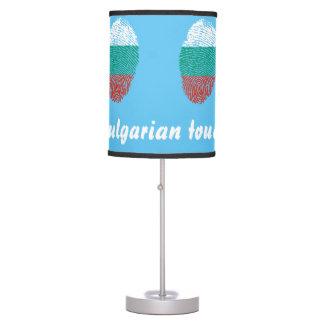 Abajur Bandeira búlgara da impressão digital do toque