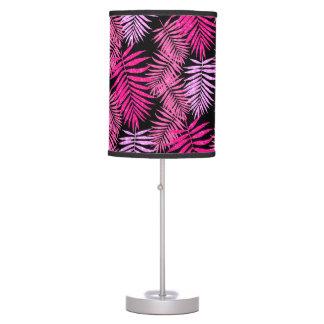 Abajur Brilho cor-de-rosa do falso da folha da palmeira
