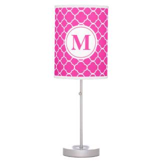 Abajur Candeeiro de mesa feminino do monograma de