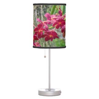 Abajur Candeeiro de mesa vermelho/cor-de-rosa da orquídea