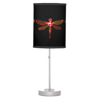 Abajur Candeeiro de mesa vermelho da libélula