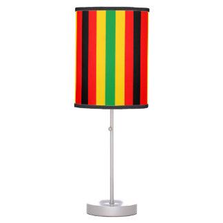 Abajur De Mesa A bandeira de Zimbabwe listra linhas cores do país