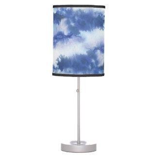 Abajur De Mesa Acento à moda da sala da aguarela azul