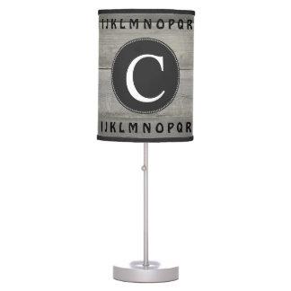Abajur De Mesa Berçário simples do alfabeto do monograma