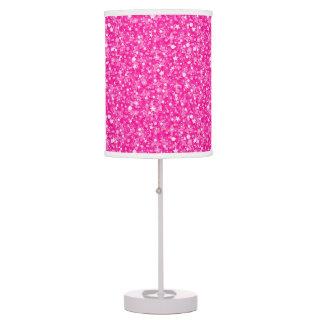 Abajur De Mesa Brilho do rosa quente e teste padrão dos Sparkles