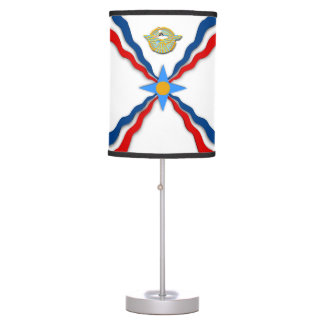 Abajur De Mesa Candeeiro de mesa Assyrian da bandeira