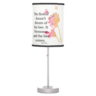 Abajur De Mesa Candeeiro de mesa que a flor não sonha da abelha