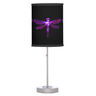 Abajur De Mesa Candeeiro de mesa roxo da libélula