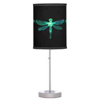Abajur De Mesa Candeeiro de mesa verde da libélula